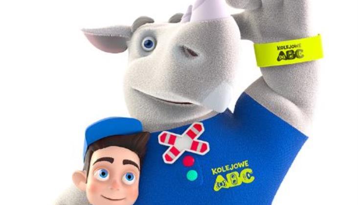 Nosorożec Rogatek bohaterem Kampanii Kolejowe ABC