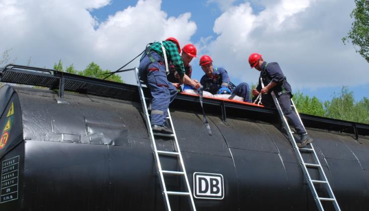 DB Cargo Polska szkoli pracowników z elementów ratownictwa