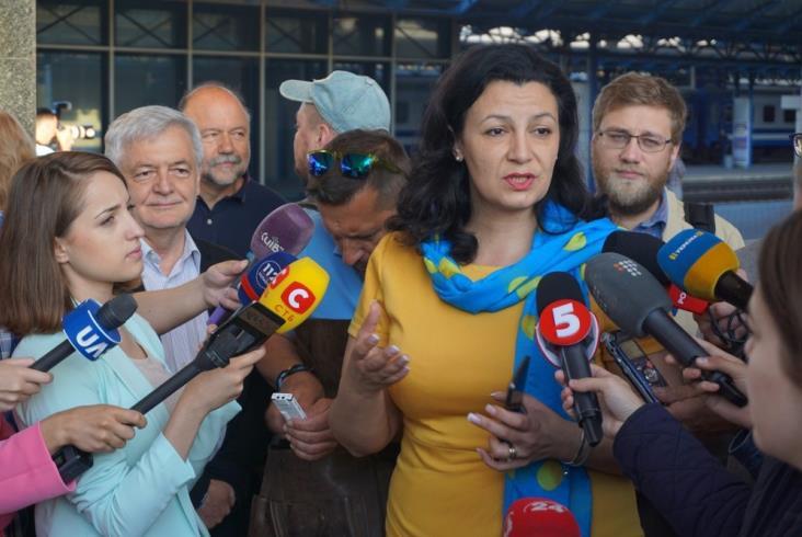 Pierwszy pociąg bezwizowy z Ukrainy dotarł do Polski