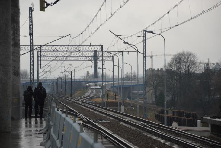 Przystanek Kraków Zabłocie w budowie [zdjęcia]
