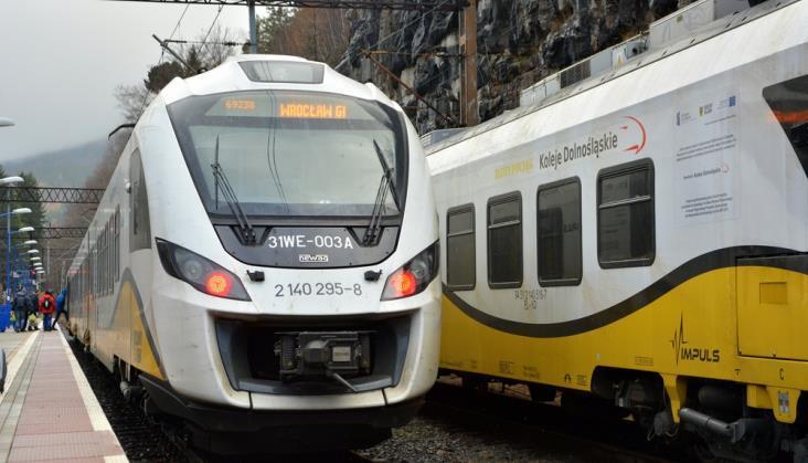 Duży wzrost liczby pasażerów na kolei na Dolnym Śląsku