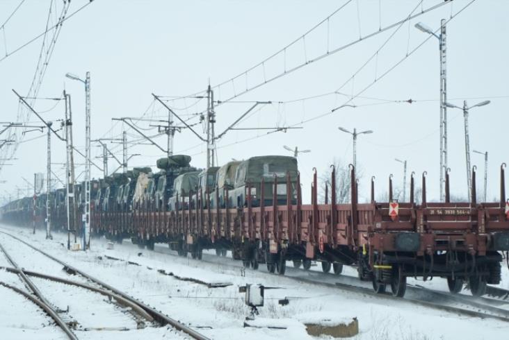 Czeskie wojsko przejechało przez Polskę koleją [zdjęcia]