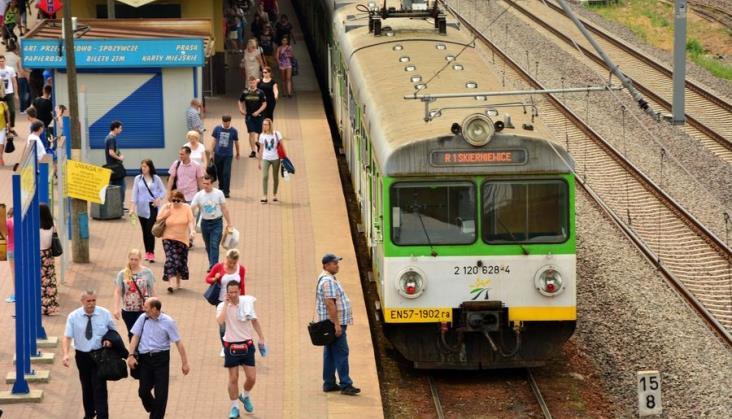 Wypadek spowodował duże utrudnienia na linii Warszawa – Grodzisk