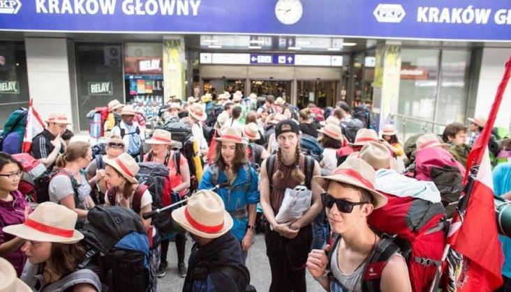 ŚDM: 70 tysięcy osób wyjechało z Krakowa koleją