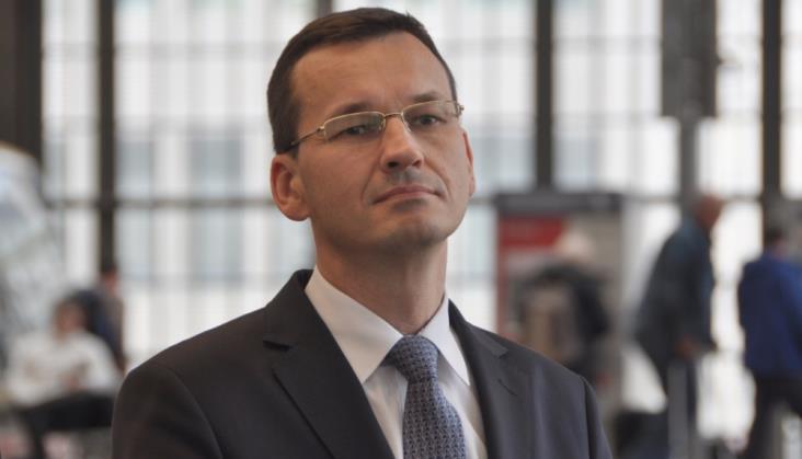 Minister Morawiecki dotarł Flirtem do Kielc