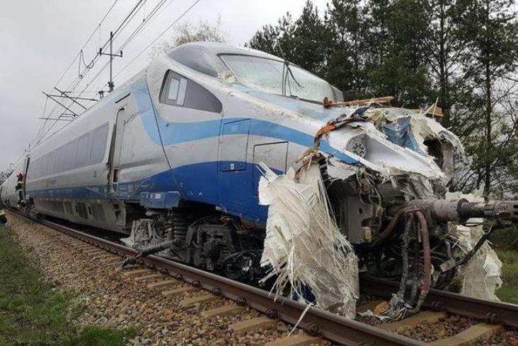 groźny wypadek pendolino pod opolem 18 os243b rannych