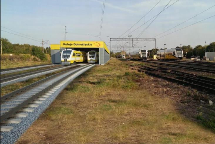 Koleje Dolnośląskie zlecą budowę hali obsługowej dla autobusów szynowych