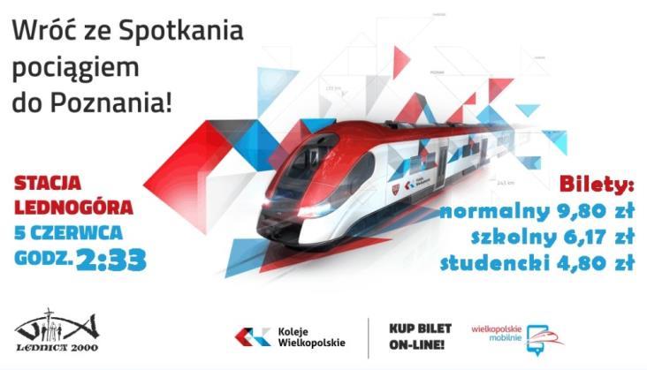 Z Lednogóry do Poznania pociągiem specjalnym
