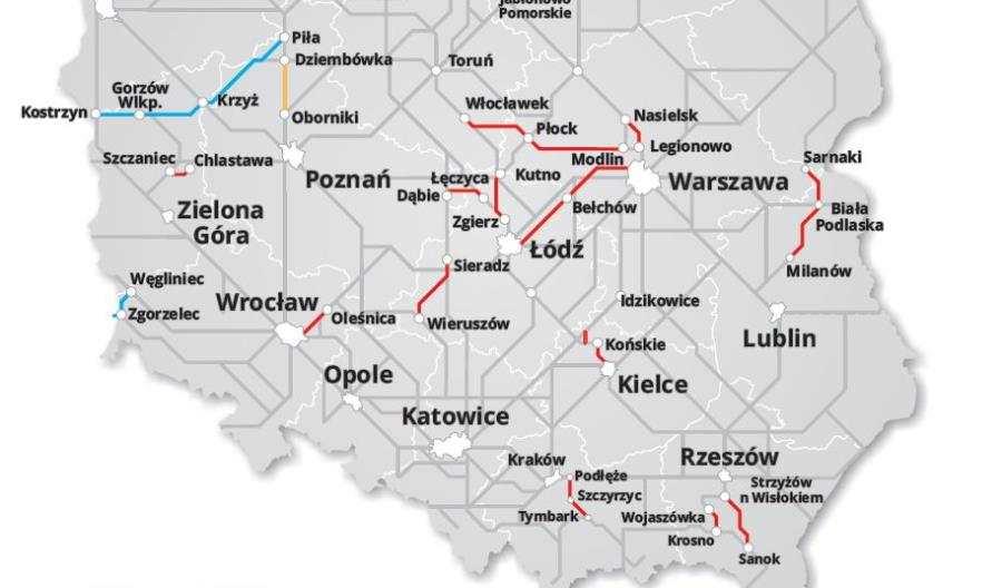 PKP Intercity chce budowy kilkunastu nowych linii kolejowych