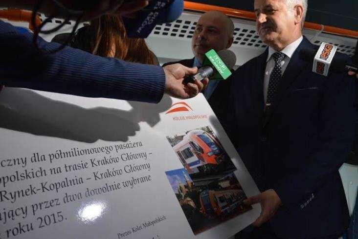 Koleje Małopolskie przewiozły pół miliona pasażerów
