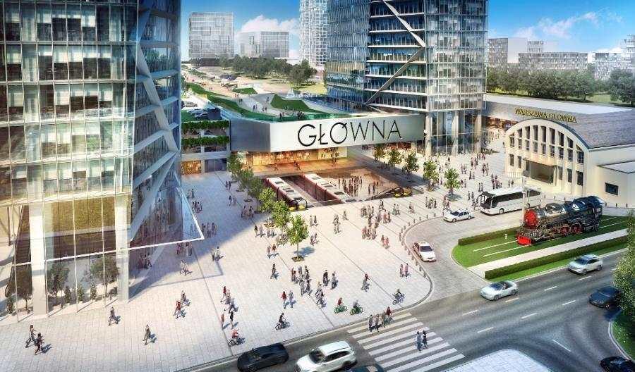 Jaka Warszawa Główna? PKP SA chce tkanki miejskiej zzielenią (wizualizacje)