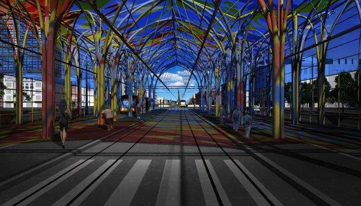 Łódź: powstaje zadaszenie Dworca Tramwajowego Centrum