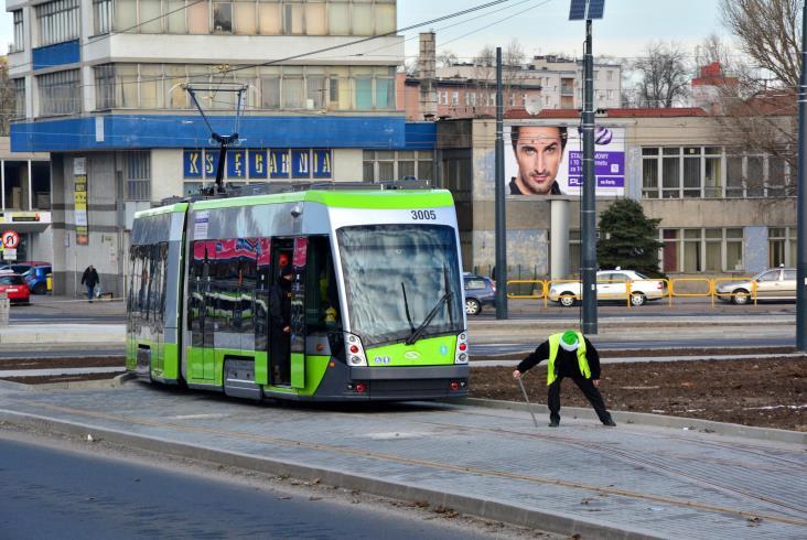 Olsztyński tramwaj po raz pierwszy z pasażerami