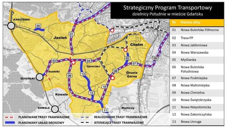 Gdańsk: Aktualizacja harmonogramu budowy linii tramwajowych w południowej części miasta