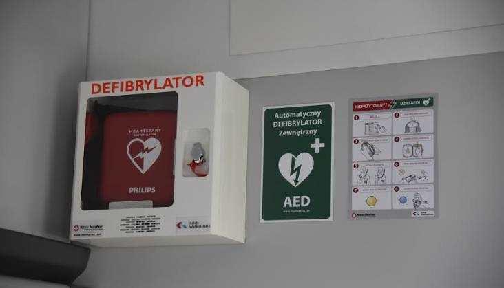 Pociągi Kolei Wielkopolskich zdefibrylatorami AED