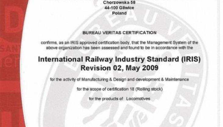ZNLE z certyfikatem IRIS