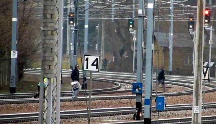 WLegionowie piesi przechodzą tuż przed pędzącymi pociągami (wideo)