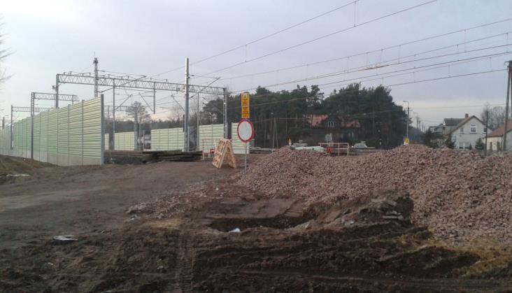 Łochów: Modernizacja Rail Baltiki daje się we znaki mieszkańcom