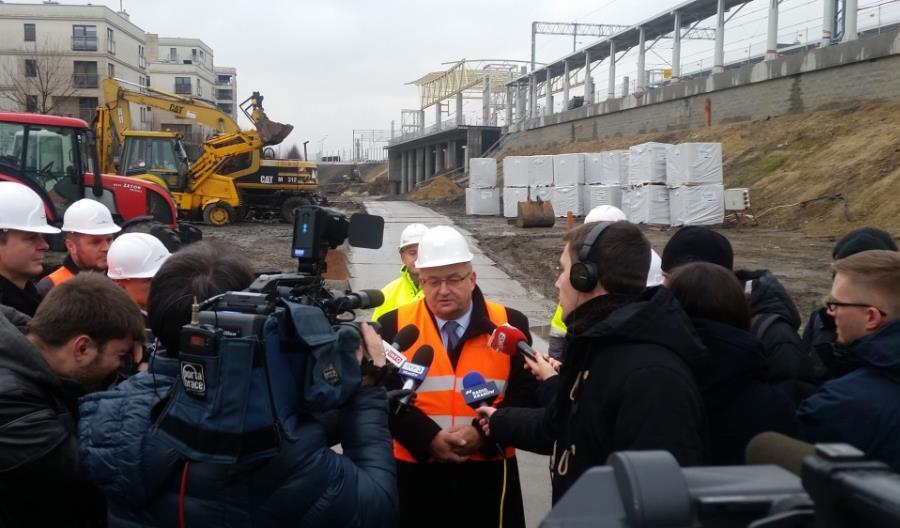 Minister Adamczyk w Krakowie: Efekt budowy łącznicy będzie piorunujący